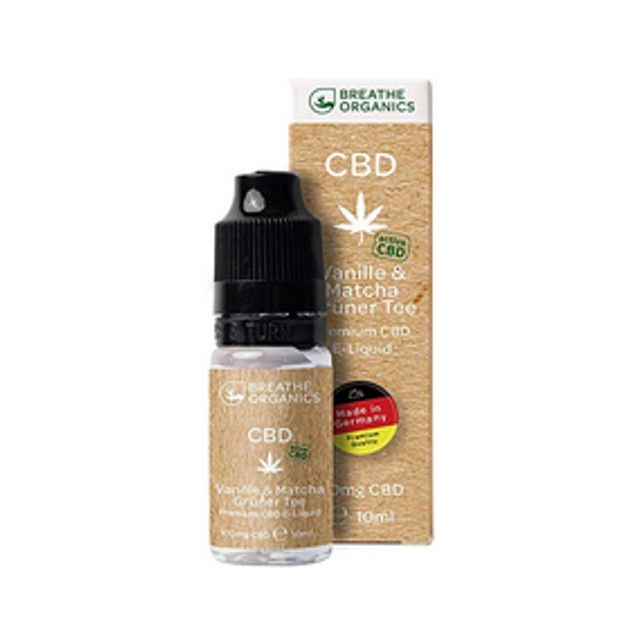 Vanille Matcha Grüner Tee Breathe Organics CBD Liquid