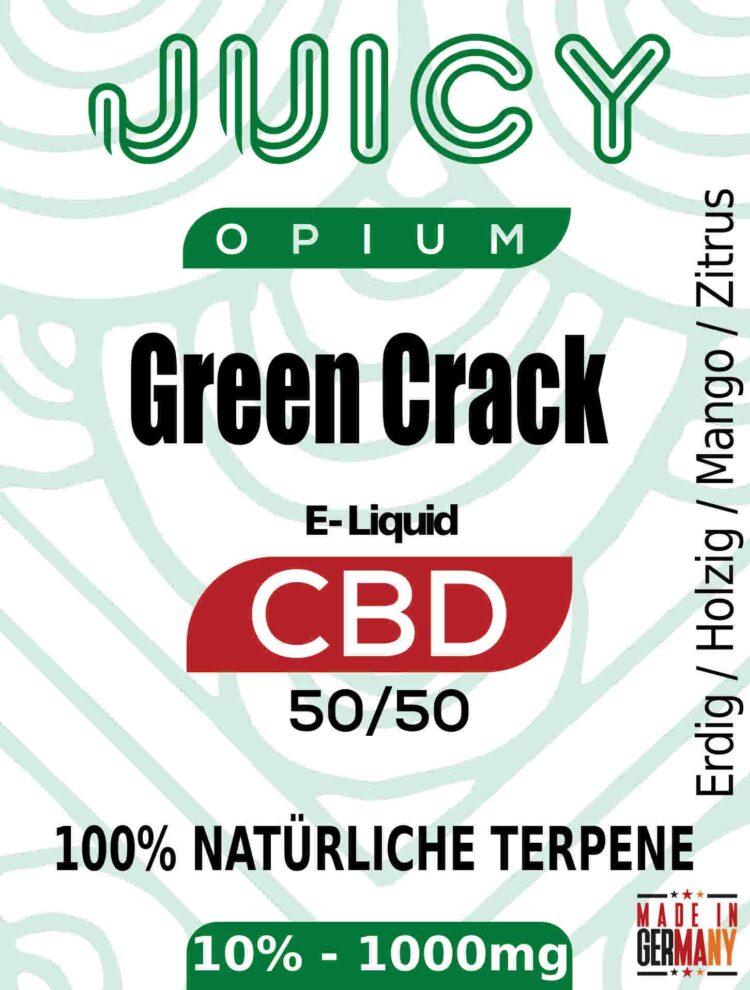 Green Crack Juicy Opium CBD Liquid Terpene