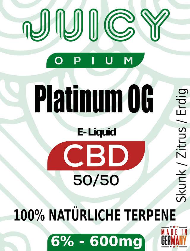 Platinum OG Juicy Opium CBD Liquid Terpene