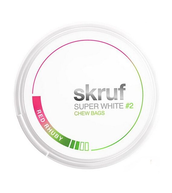 Red Rhuby Skruf Super White Chew Bags