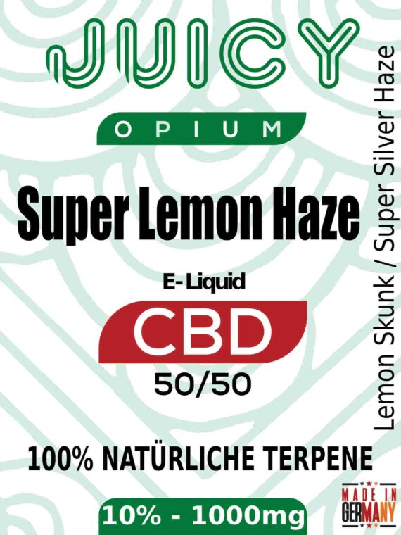 Super Lemon Haze Juicy Opium CBD Liquid Terpene