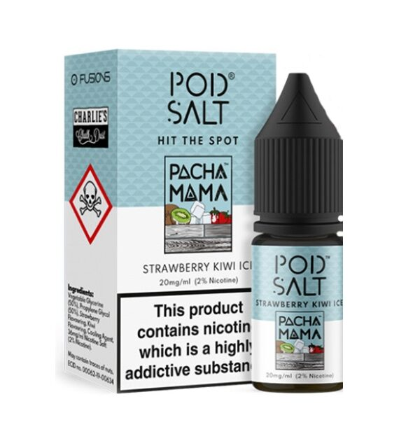 Pacha Mama Strawberry Kiwi Ice POD SALTS Liquid